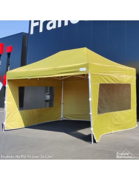 stand pliant vert doré avec murs en option
