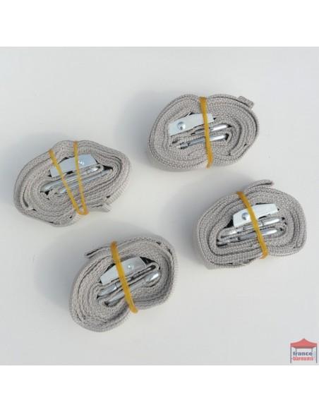 Kit d'arrimage Alu Semi Pro, Pro 45 et Pro 55 pour haubaner et maintenir votre barnum pliant au sol
