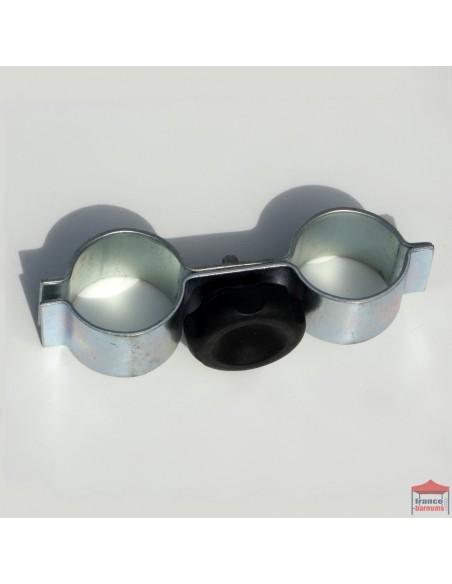 Module de jonction permettant d'assembler et de maintenir deux structures de barnums de section hexagonale de diamètre 55mm