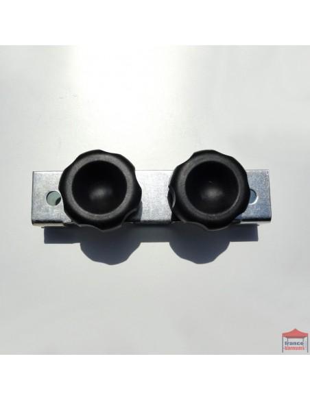 Connecteur droit pour demi-mur - Barnums pliables gamme Acier Loisirs ou Acier Semi Pro