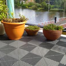 Nos dalles de sol à clipser sont conçues pour résister à des températures de -30°C à +120°C