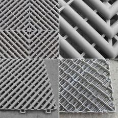 Nos dalles de sol sont fabriquées en polypropylène copolymère, une matière plastique très solide avec une excellente résistance aux chocs