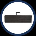 Le pliage en valise facilite le rangement et le transport de nos bancs pliants