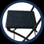chaise pliante avec assise robuste en HDPE moulé