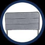 chaise pliante noire avec dossier résistant en HDPE