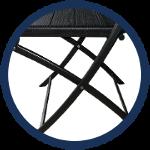 chaises noires de réception faciles à monter