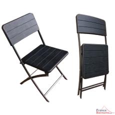 Pratique et légère, notre chaise pliable noire est rapidement utilisable, facilement stockable et transportable, afin de répondre aux attentes des professionnels (collectivités, mairies, associations) comme des particuliers