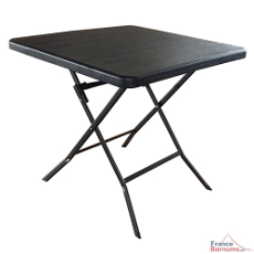 table pliante imitation bois