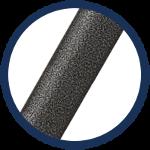 chaises pliantes noires avec structure de qualité en acier résistant