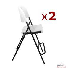 Chaise haute pliante pour mange-debout