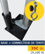 Support oriflamme base et connecteur pour tente pliante