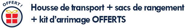 housse de transport et sacs de rangement OFFERTS