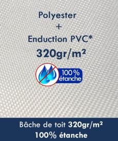 Notre tente pliante Acier Loisirs est 100% étanche avec une bâche de toit en 320gr/m² polyester + PVC