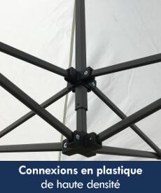 Nos abris pliables Acier Loisirs sont équipés de pièces de connexion en plastique de haute densité